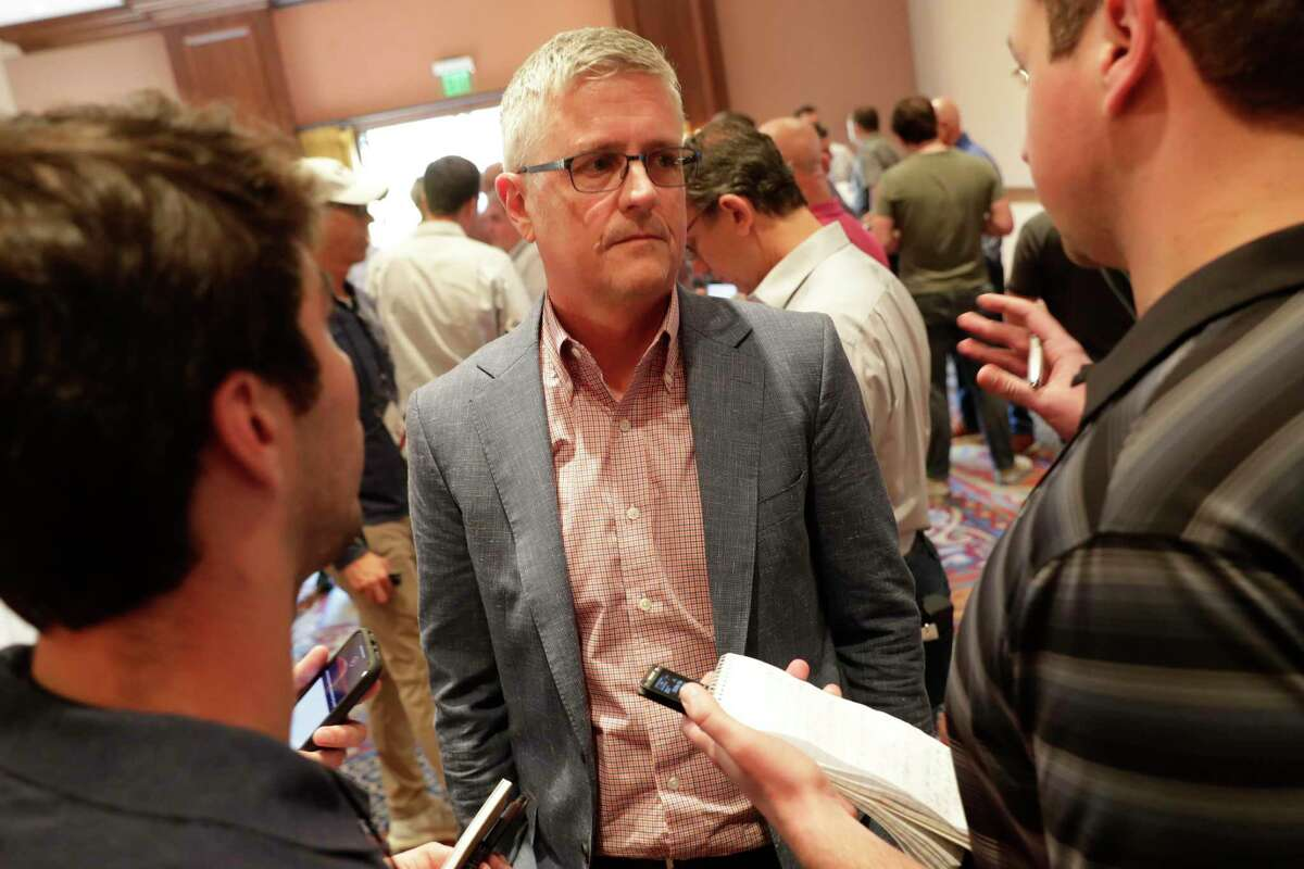 Astros general manager Jeff Luhnow, speaking at the annual GM meetings, said Tuesday that the Astros 'try to be good citizens.'