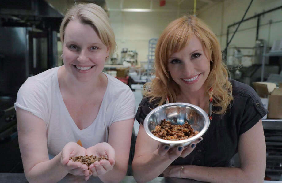 """Scenes from the food episode of the new TV show """"Crash Test World,"""" which was created by Capital Region native Jenny Buccos, left. The show is hosted by Kari Byron, right, who is best known for her work on """"Mythbusters."""" Photo: Provided By Crash Test World, ProjectExplorer"""