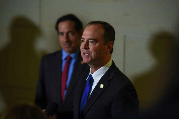 Rep. Adam Schiff, D-Calif., chairman of the House Intelligence Committee, which is leading the impeachment inquiry of President Donald Trump, addresses the media on Nov. 4 at the Capitol.