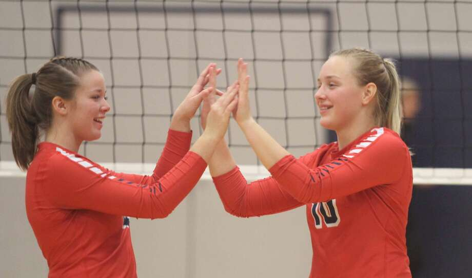 The USA Patriots suffered a straight-set loss in the Regional semifinals against Saginaw Valley Lutheran on Tuesday, Nov. 12. Photo: Eric Rutter / Huron Daily Tribune
