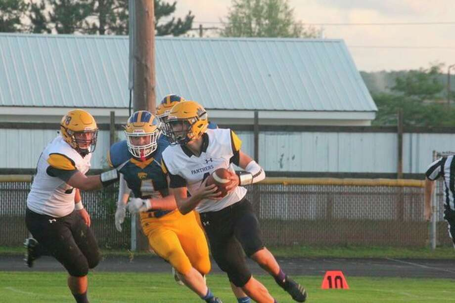 Justin O'Dell (4) was among Reed City's top players. (Herald Review photo/John Raffel)