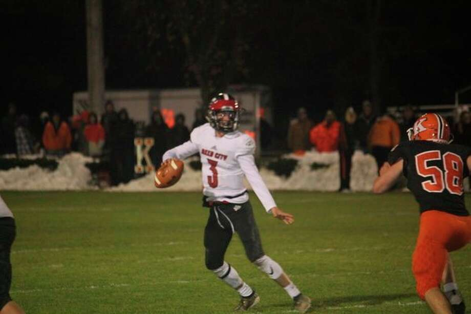 Reed City's Jeffrey Samuels was among eight all-league players for the Coyotes. (Pioneer file photo)