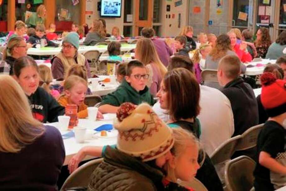 Moms showed up in big numbers to have breakfast with their students at the annual Muffins with Mom at Trinity Lutheran Church and School on Friday, Nov. 1. (Submitted photos)