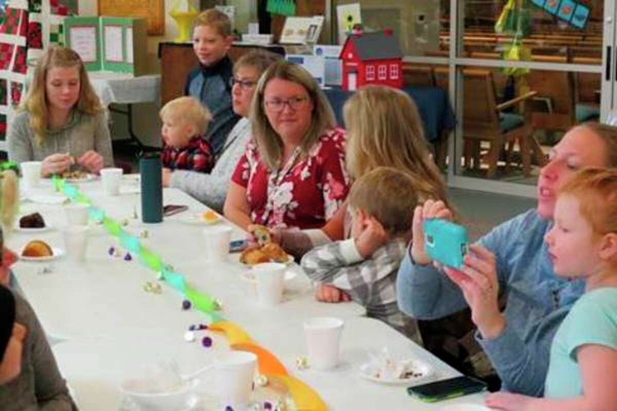 Students and moms enjoyed an assortment of muffins, juice and coffee at the the annual Muffins with Mom breakfast at Trinity Lutheran Church and School on Friday, Nov. 1. (Submitted photo)