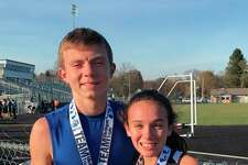 Hunter Jones and Cierra Guay chose to extend their cross country seasons for one more week to compete against some of the state's top runners at Shepherd on Saturday. (Submitted photo)