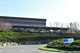 The operational headquarters of Linde at 10 Riverview Dr. in Danbury, Conn., in November 2018 after the company formally merged with Praxair to create the largest industrial gases company in the world.
