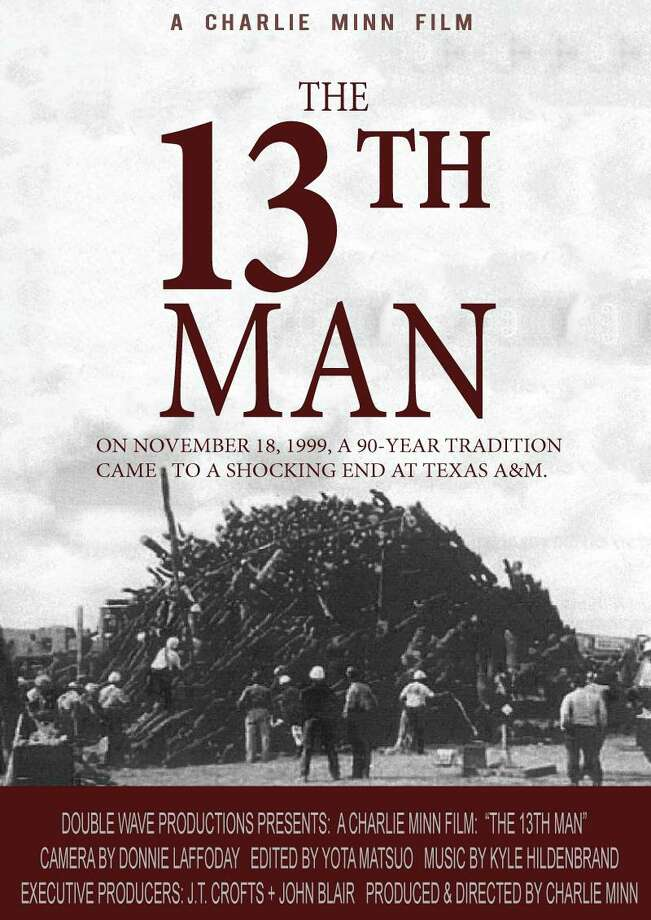 "Film maker Charlie Minn has created ""The 13th Man,"" a documentary about the Texas A& bonfire tragedy on Nov. 18, 1999. The documentary will open on Friday and in theaters across the state including The Grand in Conroe. Photo: Courtesy Photo"