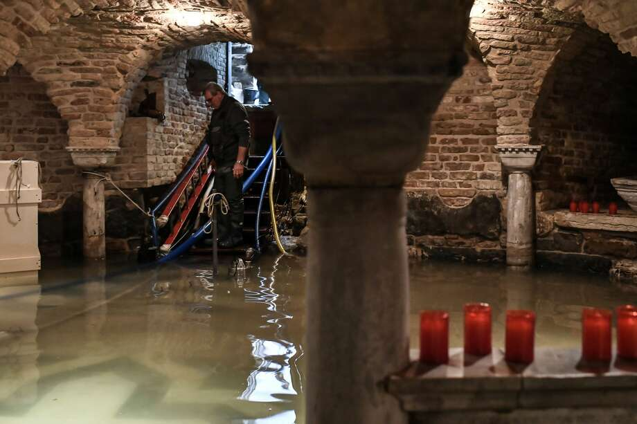 The crypt of St. Mark's Basilica was flooded by more than three feet of water. Photo: MARCO BERTORELLO/AFP Via Getty Images