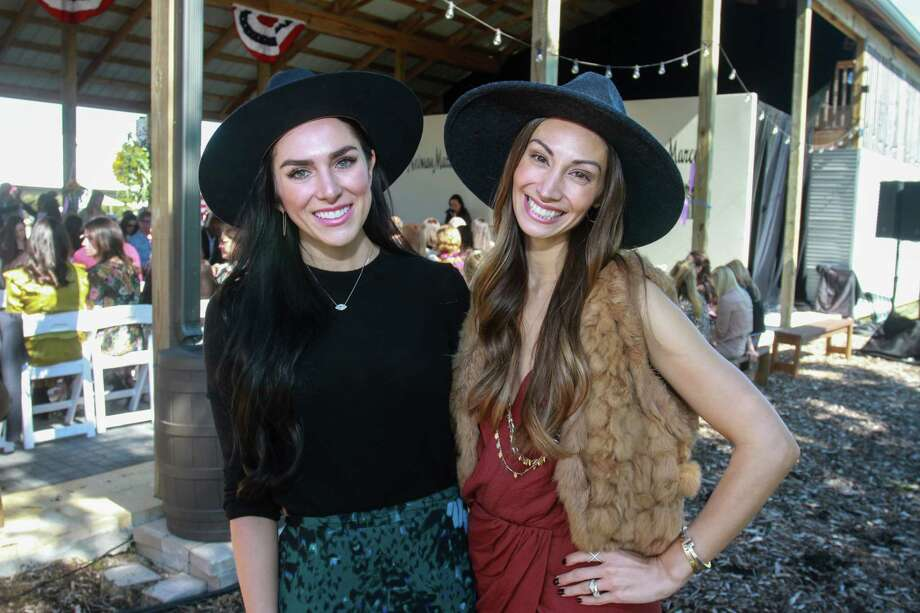 Anna Van Delden, left, and April Salazar at Recipe for Success Houston's Fashion in the Fields Photo: Gary Fountain, Contributor / Copyright 2019 Gary Fountain