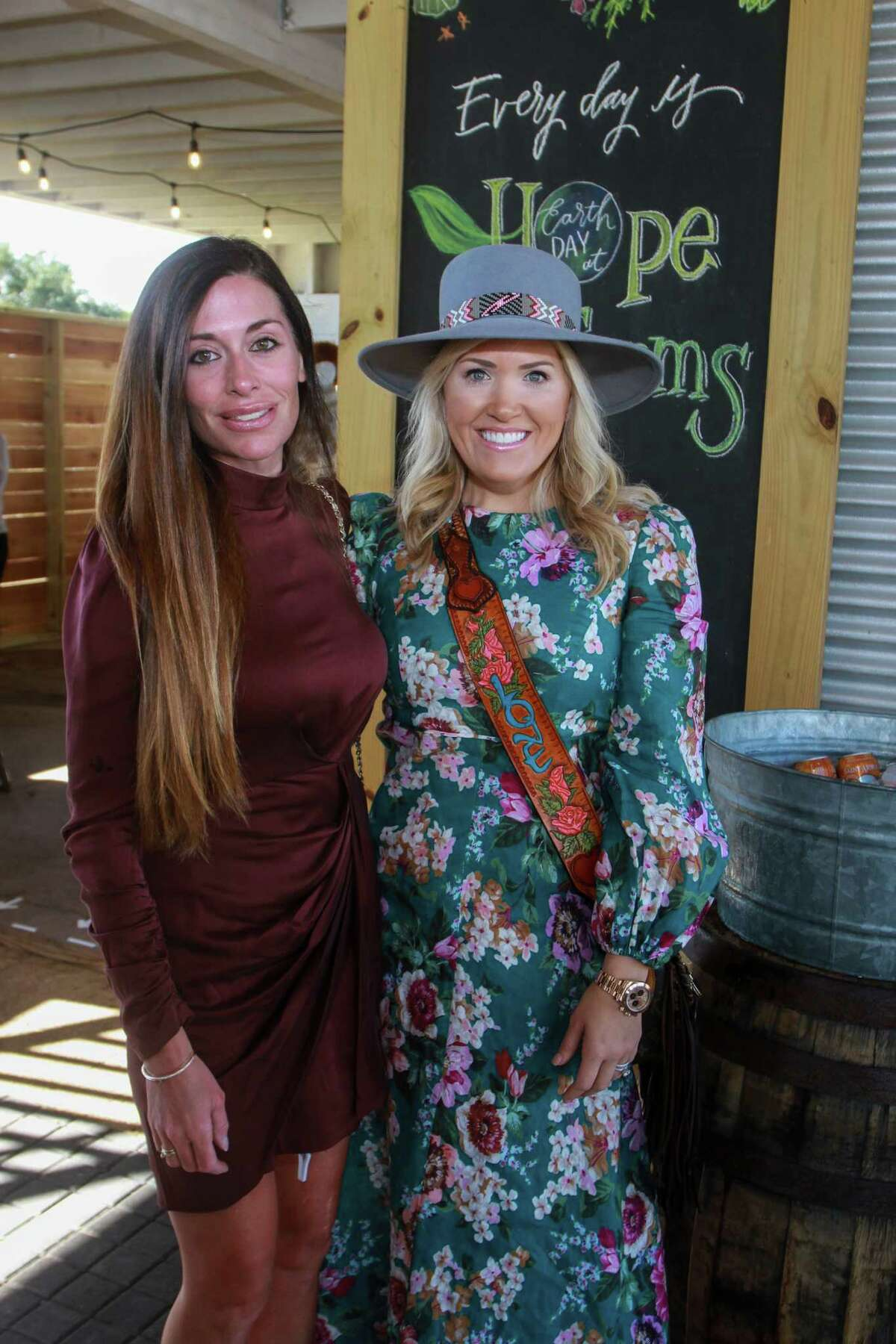 Chairs Elizabeth Dwyer, left, and Amanda Boffone at Recipe for Success Houston's Fashion in the Fields