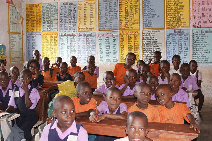 Children at school in Uganda