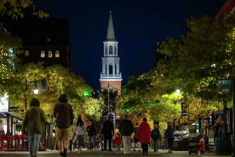 Church Street in downtown Burlington is a four-block pedestrian shopping and dining center. Photo: Photo For The Washington Post By John Tully / John Tully for The Washington Post