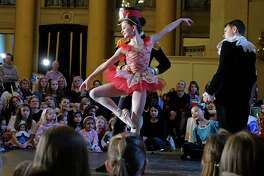 Dancers with The Northeast Ballet Company perform excerpts of The Nutcracker at the annual Nutcracker Tea at the Hall of Springs at SPAC on Sunday, Nov. 18, 2018, in Saratoga Springs, N.Y. The fundraising event is put on by the SPAC Action Council, an all volunteer arm of SPAC. The tea is one of four events that the council, made up of people who love the performing arts, puts on each year. The Northeast Ballet will perform the Nutcracker at Proctors on Saturday, Dec.1st and Sunday Dec. 2nd. (Paul Buckowski/Times Union)