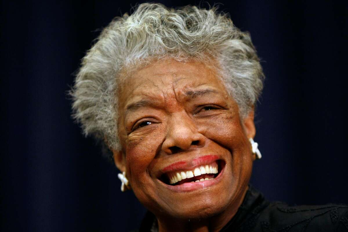 """FILE - This Nov. 21, 2008 file photo shows poet Maya Angelou smiling in Washington. Angelou, a Renaissance woman and cultural pioneer, has died, Wake Forest University said in a statement Wednesday, May 28, 2014. She was 86. Maya Angelou walked into a meeting of civil rights leaders discussing affirmative action, looked around, and put them all in their place with a single observation. """"She came into the room,"""" recalled Al Sharpton, """"and she said, 'The first problem is you don't have women in here of equal status. We need to correct you before you can correct the country.'"""" Angelou, who died Wednesday at age 86, will be forever known for her soaring poetry and her searing memoirs. But her impact transcended her written words. She was the nation's wise woman, a poet to presidents, an unapologetic conscience for the civil rights movement. Never hesitant to speak her mind, Angelou passionately defended women, and literature, and the right of younger generations to be heard. """"I've seen many things, I've learned many things,"""" she told The Associated Press in 2013. """"I've certainly been exposed to many things and I've learned something: I owe it to you to tell you.""""(AP Photo/Gerald Herbert, File)"""