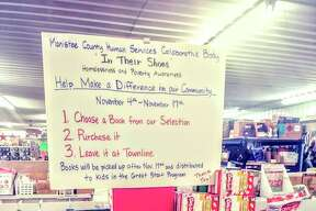 Townline Unlimited Bargain Barn on Parkdale Avenue in Manistee is hosting a book drive as part of Homelessness Awareness Month in Manistee County. (Courtesy Photo)