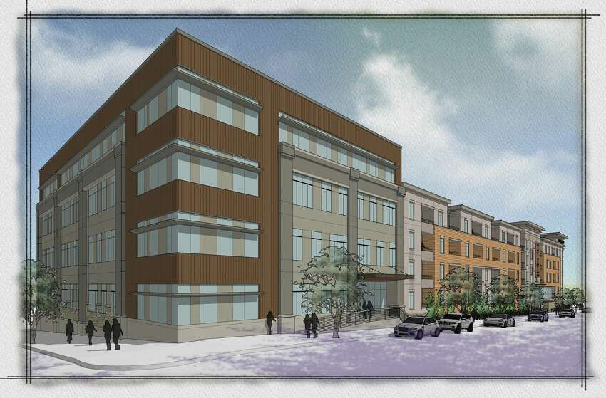A rendering of the City Station North development, which will be located at 141 Congress St. in Troy.