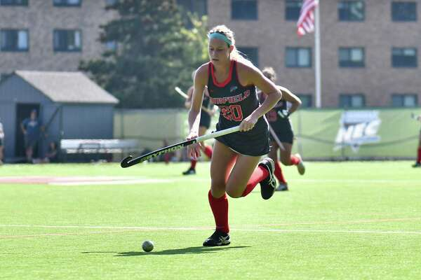 Freshman Madison Hoskins scored in both games in NEC tournament to lead Fairfield to title.