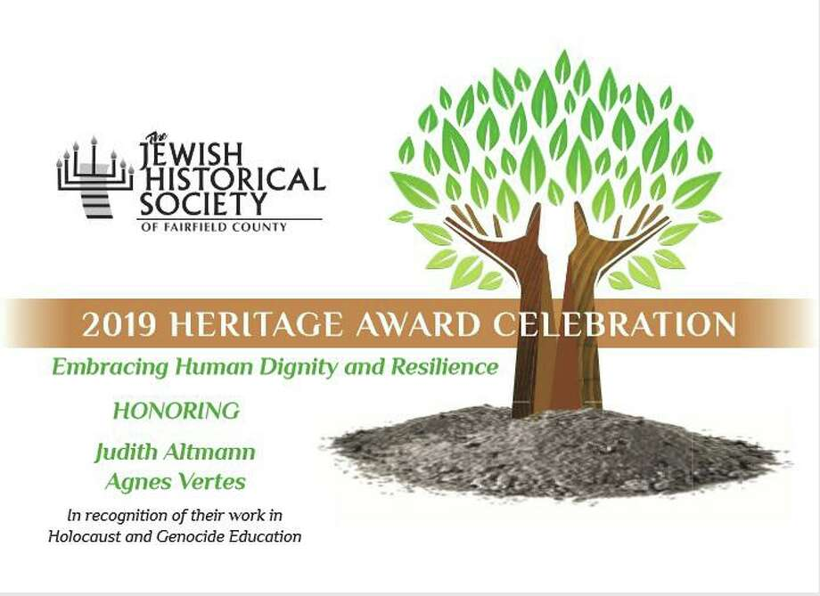 The 2019 Heritage Award Celebration will honor two Holocaust survivors and their efforts to educate others about this genocide on Nov. 17, 2019 at Temple Beth El. Photo: Contributed Photo / Contributed Photo / New Canaan News contributed