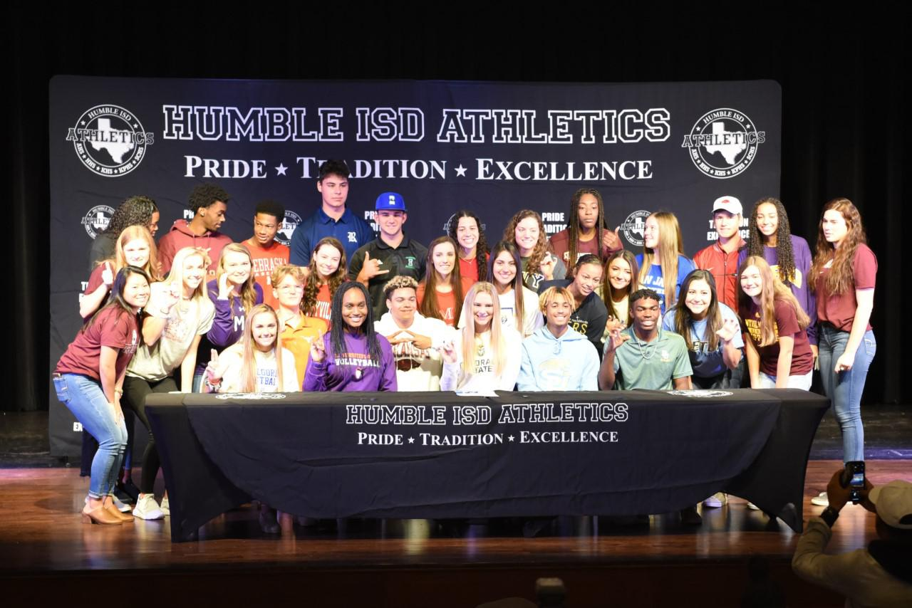 Humble ISD has 30 student athletes commit on National Signing Day