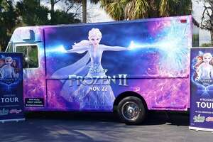 Disney's Frozen 2 Truck Tour is stopping at Santikos' Palladium on Thursday. Goodie bags stuffed with promotional items like stickers, posters and music cards will be given away from 4 to 6 p.m.