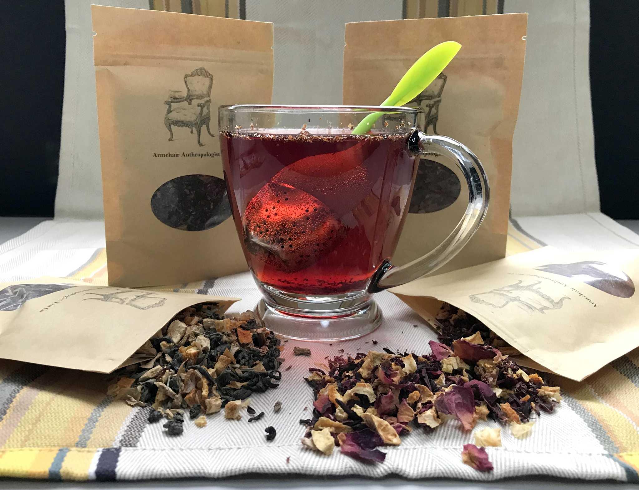San Antonio tea company Armchair Anthropologist Tea Co. has the hot cup of tea you need this winter
