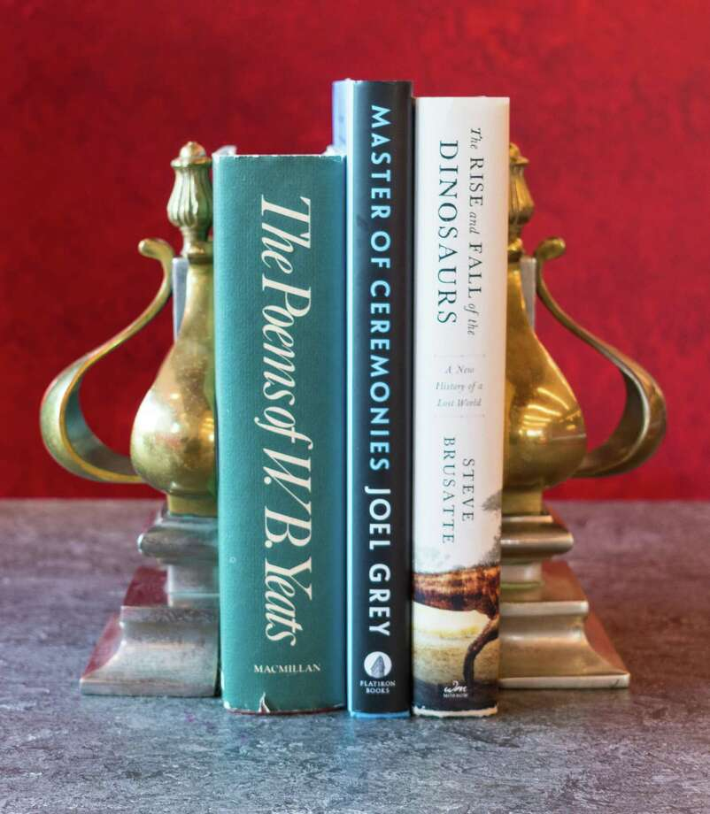 Gift items at Westport Library's annual Holiday Book and Gift Sale include bookends, some new, some old and all different, to keep those books standing tall. Photo: Westport Library / Contributed Photo