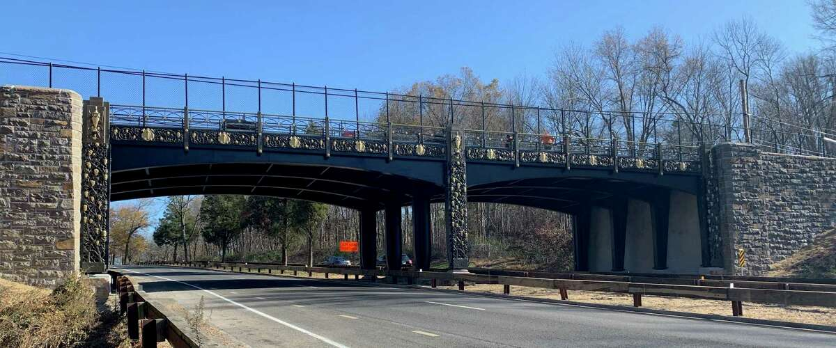 The shiny new bridge is in place carrying Lake Avenue over the Merritt Parkway in backcountry Greenwich. It will reopen to traffic late Thursday morning.