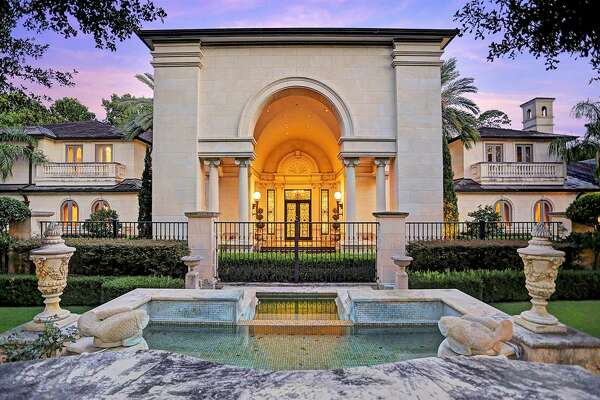 The unique estate at 8823 Harness Creek Lane in Memorial features a Turkish bath-style lounge.