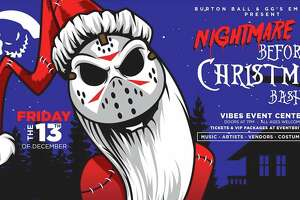 """The family friendly event will combine the two film favorites, """"Nightmare Before Christmas"""" and """"Friday the 13th"""" at Vibes Event Center on Dec. 13 from 7 p.m. to 1 a.m."""