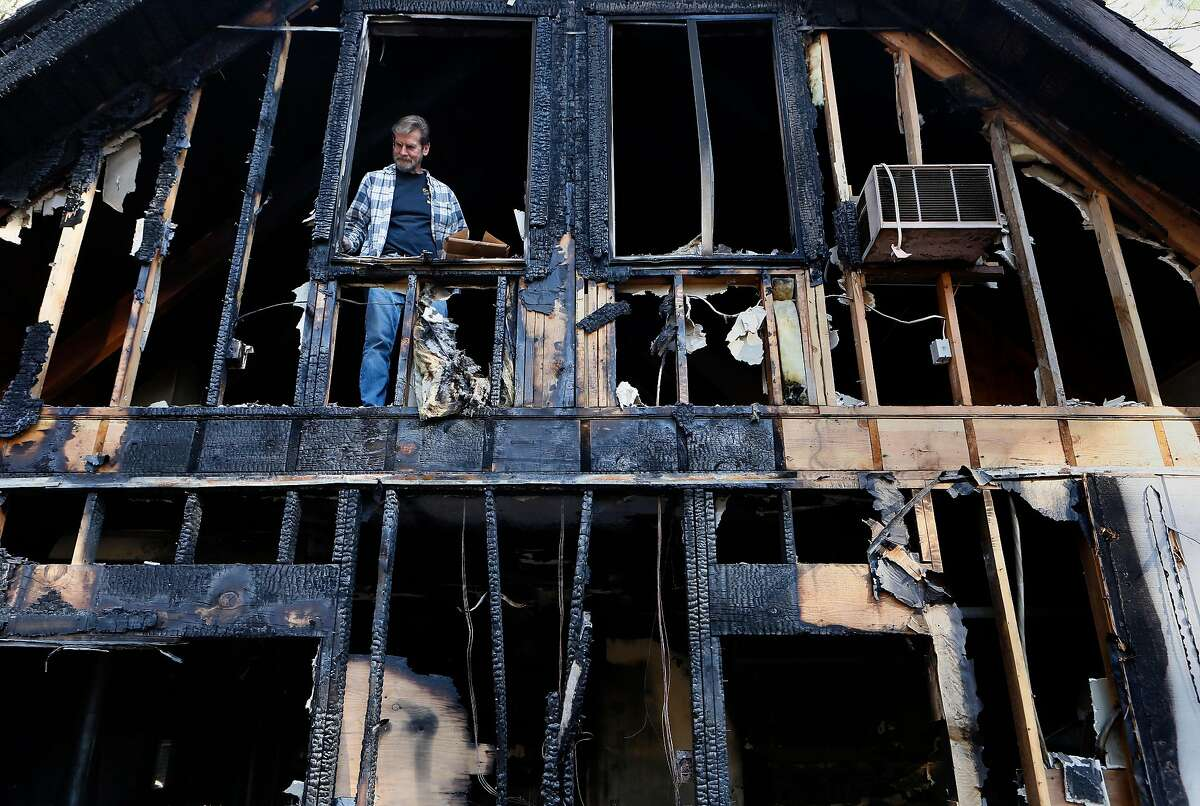 Art Bern Jr. at the home of his parents where an emergency generator sparked a fire which damaged the home�s garage and attic during a PG&E power shut off in late September, in Grass Valley, Ca. as seen on Friday Nov. 8, 2019.