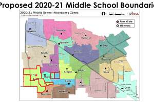 The Cy-Fair ISD Board of Trustees was shown both the proposed boundaries and the current boundaries during the board meeting on Nov. 11.