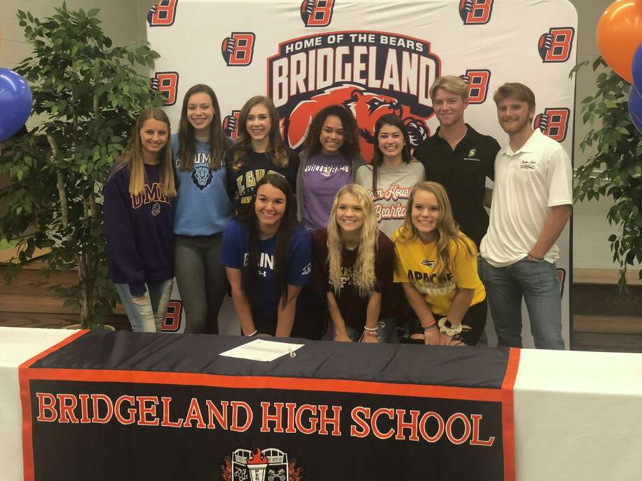 Bridgeland athletes signed their letters of intent during the early signing day period, Nov. 13, at Bridgeland High School. Photo: Tommy Yarrish