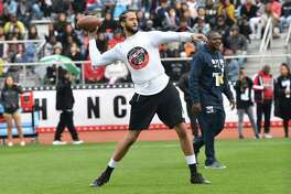 LILBURN, GA - MARCH 31: Colin Kaepernick attends Huncho Day on the Nawf 2019: Team Huncho vs Team AK at Berkmar High School on March 31, 2019 in Lilburn, Georgia.