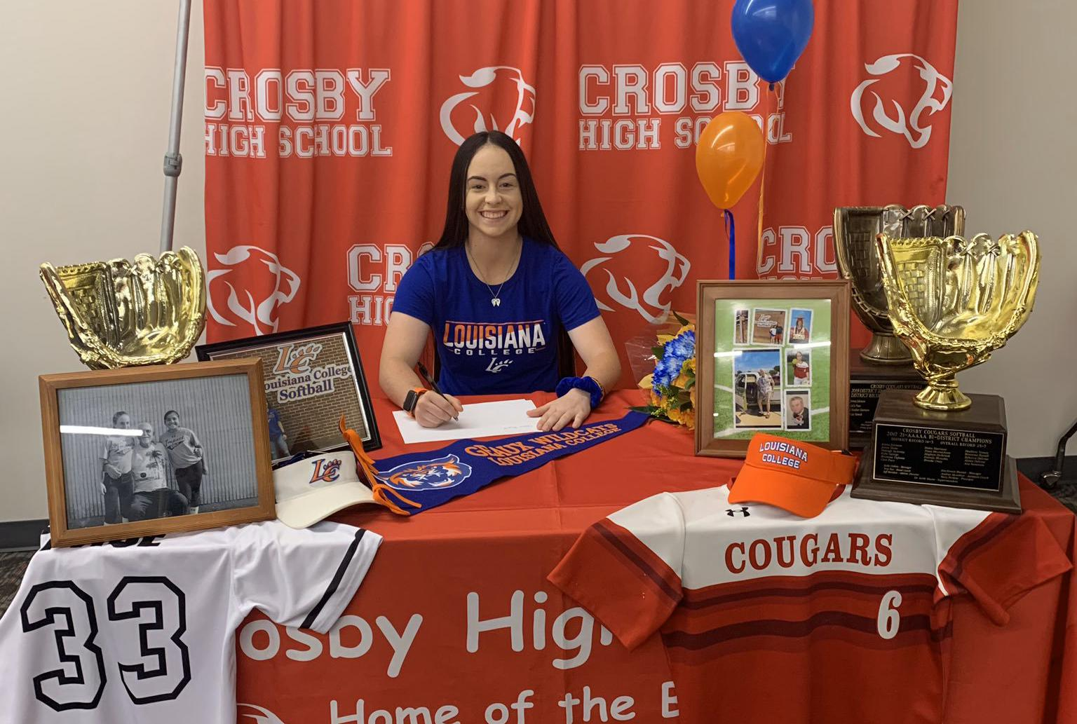 National Signing Day: Crosby standout Cece Pace commits to play softball at Louisiana College