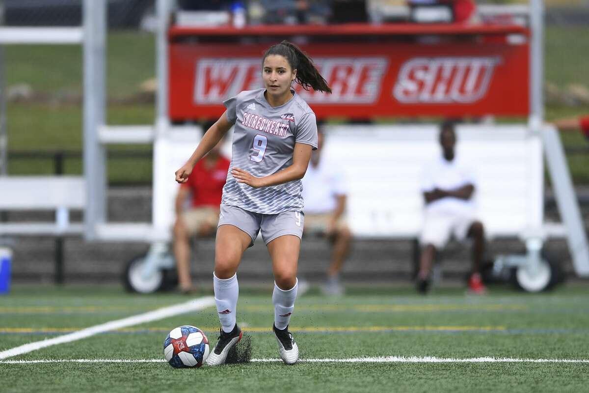 Shenendehowa graduate Michelle Clarkin of the Sacred Heart women's soccer team. (Steve McLaughlin / Sacred Heart Athletics)