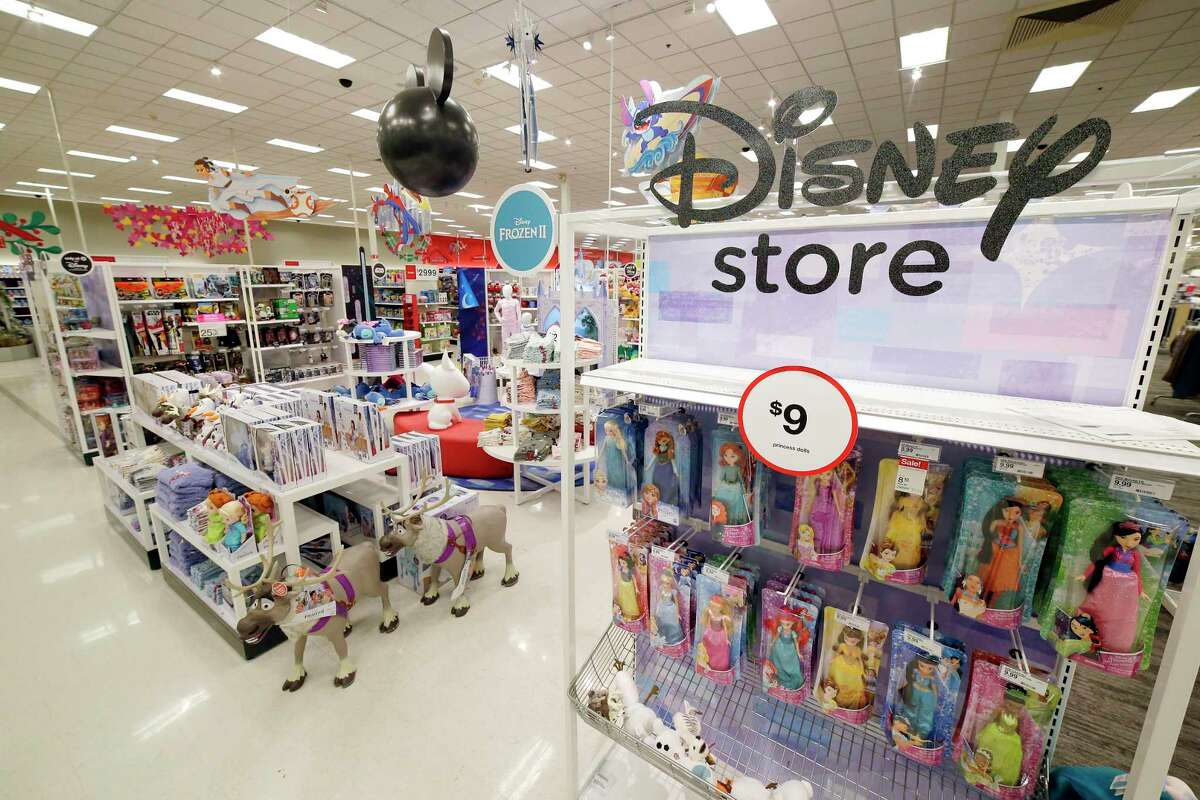 The displays of toys and other movie related items at the Disney Store within a store in the Target store Monday, Nov. 11, 2019 in Spring, TX.