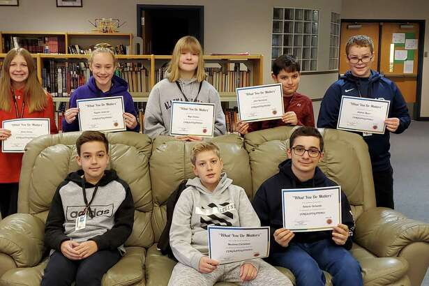 "Shelton Intermediate School's ""What You Do Matters"" Character Award winners."