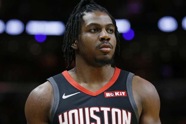 MIAMI, FLORIDA - OCTOBER 18: Chris Clemons #3 of the Houston Rockets looks on against the Miami Heat during the first half at American Airlines Arena on October 18, 2019 in Miami, Florida. NOTE TO USER: User expressly acknowledges and agrees that, by downloading and or using this photograph, User is consenting to the terms and conditions of the Getty Images License Agreement. (Photo by Michael Reaves/Getty Images)
