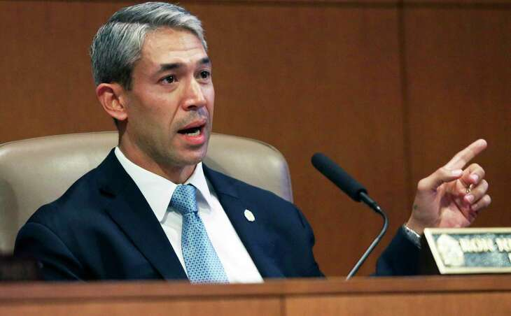 Mayor Ron Nirenberg takes part in the Nov. 13, 2019, City Council meeting. His ability to thread the needle this year on three issues — boosting transit funding while preserving the aquifer protection program and winning voter approval to keep Pre-K 4 SA going — will say a lot about his mayoral legacy, not to mention his prospects for securing a third term in 2021.