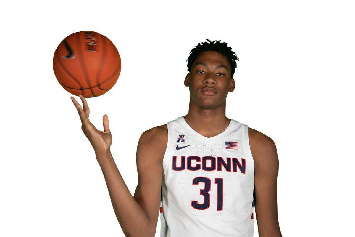UConn commit Javonte Brown in a photo he shared after making his official visit to Storrs in October.
