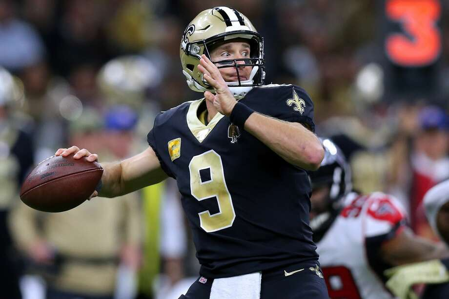 NEW ORLEANS, LOUISIANA - NOVEMBER 10: Drew Brees #9 of the New Orleans Saints throws the ball during a game against the Atlanta Falcons at the Mercedes Benz Superdome on November 10, 2019 in New Orleans, Louisiana. (Photo by Jonathan Bachman/Getty Images) Photo: Jonathan Bachman/Getty Images