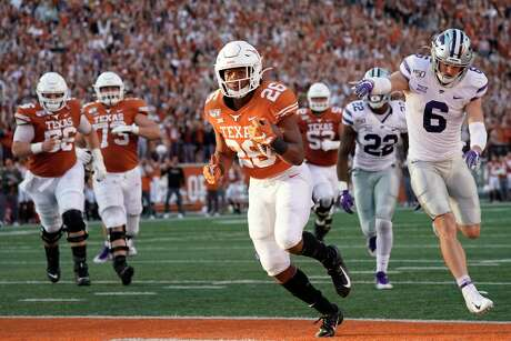 Texas running back Keaontay Ingram runs for one of his two touchdowns in last week's comeback win over Kansas State.