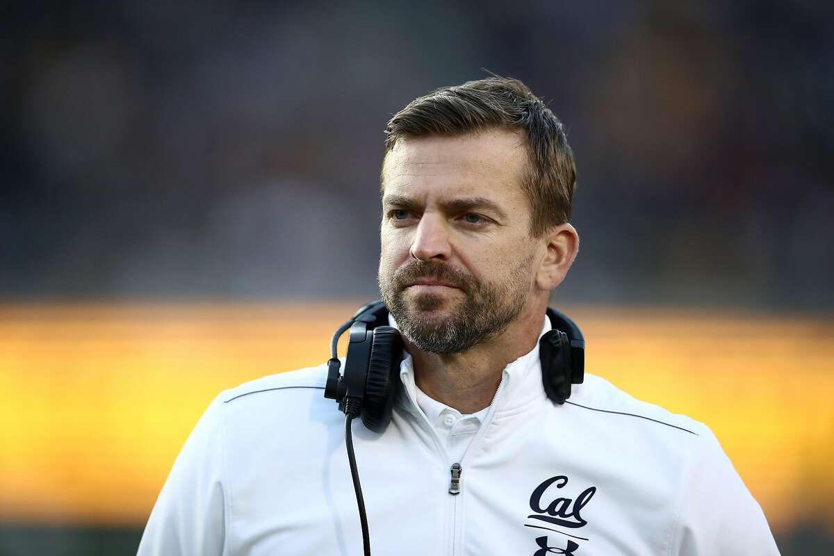 BERKELEY, CALIFORNIA - NOVEMBER 09: Head coach Justin Wilcox of the California Golden Bears stands on the sidelines during their game against the Washington State Cougars at California Memorial Stadium on November 09, 2019 in Berkeley, California. (Photo by Ezra Shaw/Getty Images)