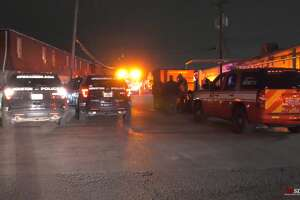 OnScene.tv images from a trench collapse that killed one in the 5600 block of the North Freeway, Nov. 13.