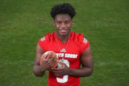 Dematrius Davis, North Shore High School quarterback, is the All Greater Houston OffensivePlayer of the Year Sunday, Dec. 30, 2018, in Houston.