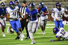 West Brook's Bryce Anderson runs the ball down the field for a touchdown during the third quarter of the game at BISD's Memorial Stadium Friday night. Photo taken on Friday, 10/11/19. Ryan Welch/The Enterprise