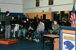 The Baldwin Senior High band performed at the Veterans' Day program hosted by Baldwin Community Schools on Monday, Nov. 11. The playlist included The Star Spangled Banner and Freedom Finale in honor of all veterans.