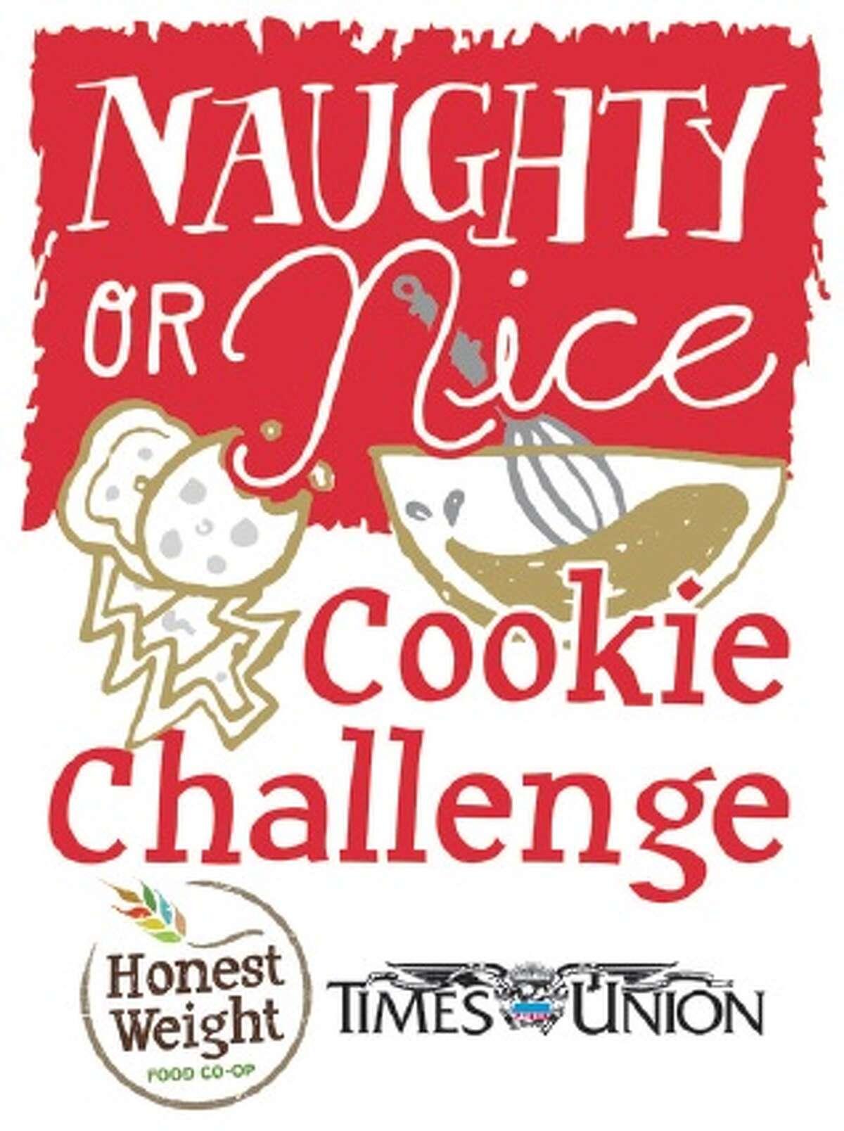 Naughty or Nice Cookie Challenge logo.