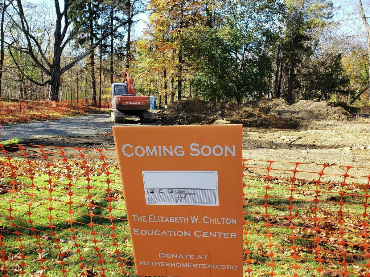 On Friday, the Mather Homestead broke ground on the construction of its new education center.