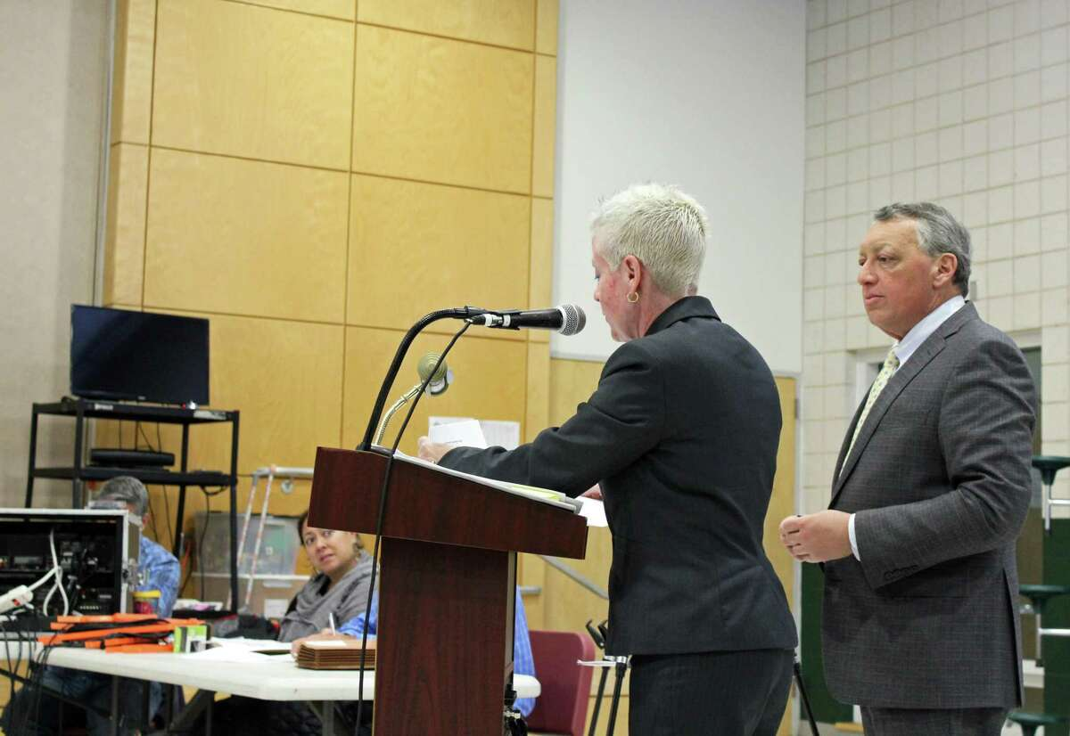 Carol Martin, executive director of the Fairfield Housing Authority, spoke to the Plan and Zoning Commission Tuesday.